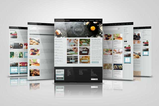 web designer in sussex - screenshots of ashdown manna website