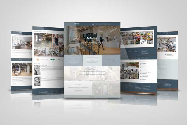 web designer in sussex - screenshots of create interior design website