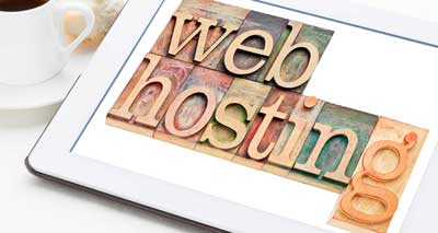 web design and hosting in sussex - ipad with the word hosting on it