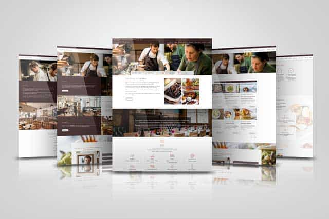 web designer in sussex - screenshots of toms kitchen website