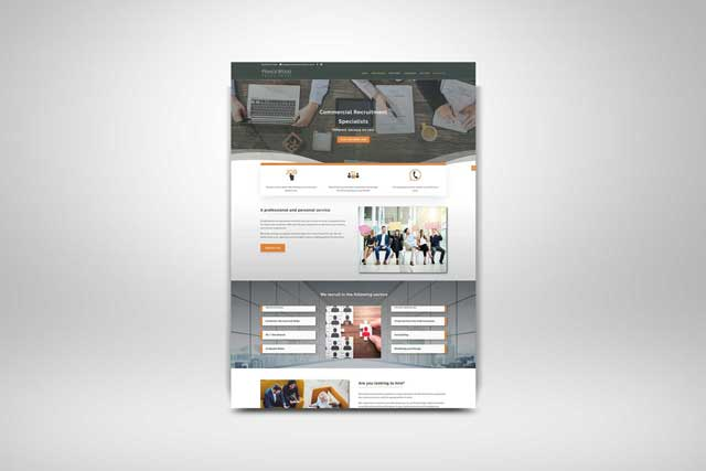 web designer in sussex - screenshots of princewood recruitment website